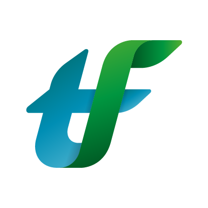 Thermofibre logo tf only with space