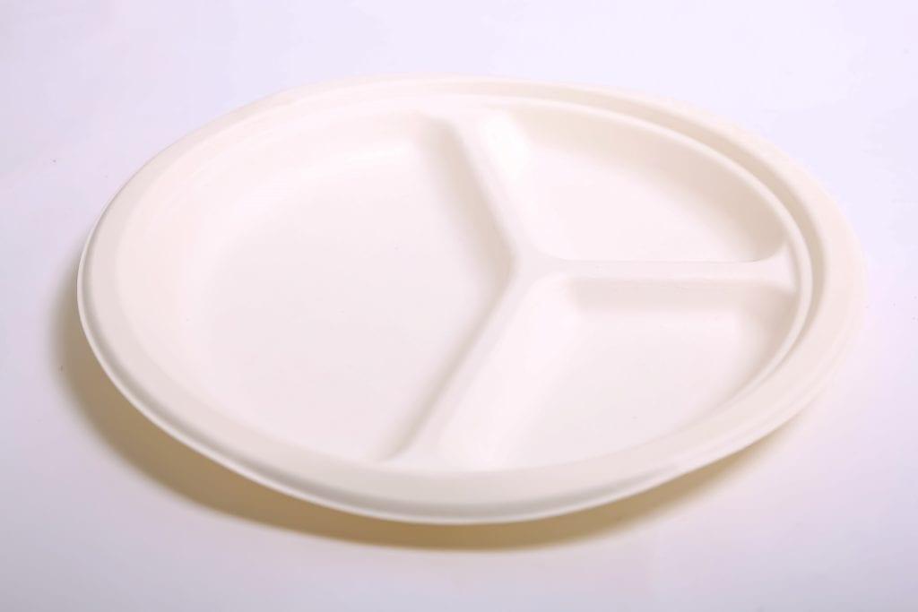 flexeco 3 comp. 10 plate white